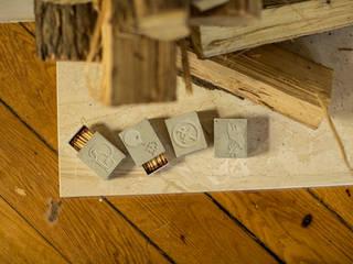 Streichholzschachtel mit klassischen und lustigen Motiven:   von BETONIU GmbH