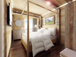 Country style bedroom by Alena Zakharova Country