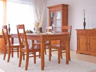 Essgruppe Gotland 180cm Esstisch 6 Stühle braun Pinie massiv Holz Essgarnitur:   von Moebelkultura.DE