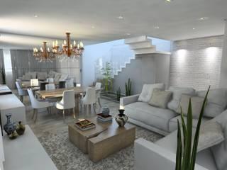 Scandinavian style living room by Studio M Arquitetura Scandinavian