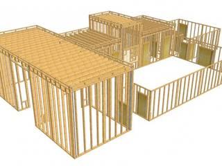 WoodLab Salones de eventos de estilo minimalista Madera Beige