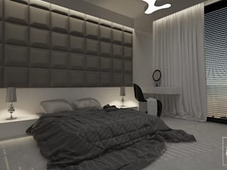 simple bedroom at sunset od Zeler Design Nowoczesny