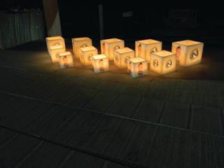 Decoração Festa Final de Programa de Televisão: Jardins  por Candle In,Minimalista