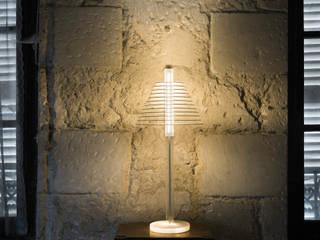 """Lampe à poser """"Babel Abat jour"""" par Alain Pelletier Luminaires Moderne"""