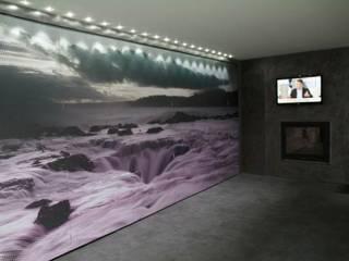 Reforma en Garaje Salones de estilo moderno de Molina Decoración Moderno