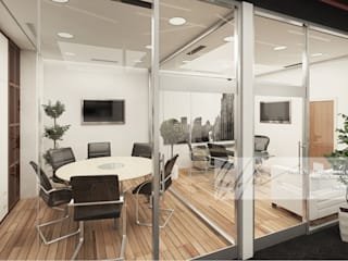 Oficina para World Trade Center Valencia Oficinas de estilo minimalista de Arq.AngelMedina+ Minimalista