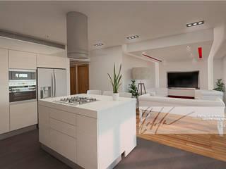 Apartamento Tucacas. Cocinas de estilo minimalista de Arq.AngelMedina+ Minimalista