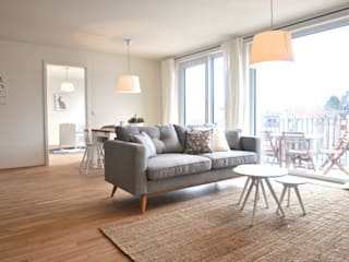 Scandinavian style living room by Karin Armbrust - Home Staging Scandinavian