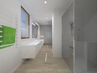 Łazienka drewniana od Kokon Studio Karolina Alicja Prałat
