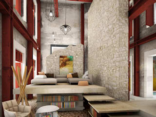 Rustic style living room by mousa / Inspiración Arquitectónica Rustic