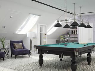 Salle multimédia de style  par Студия дизайна Дарьи Одарюк,