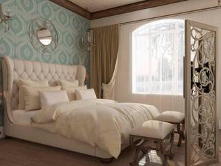 Dormitorios de estilo mediterráneo de Студия дизайна Дарьи Одарюк Mediterráneo