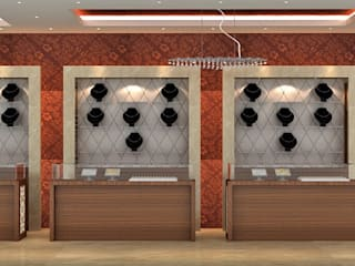Jewellery store in Mumbai:  Offices & stores by A.S.Designs