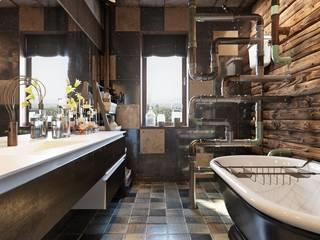 浴室 by Дизайн-мастерская 'GENESIS'