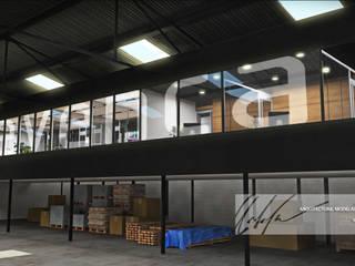 Proyecto de Oficinas Enrevenca - la Quizanda: Oficinas y Tiendas de estilo  por Arq.AngelMedina+