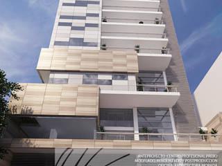 Centro Profesional Prebo Balcones y terrazas de estilo minimalista de Arq.AngelMedina+ Minimalista