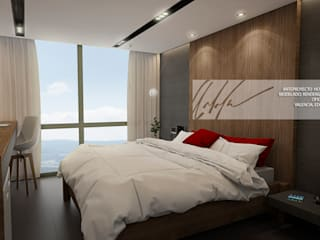 Arq.AngelMedina+ Minimalist bedroom Wood Grey