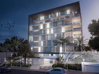 Residencias D9: Casas de estilo  por Arq.AngelMedina+