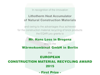 تنفيذ Wärmekombinat GmbH,