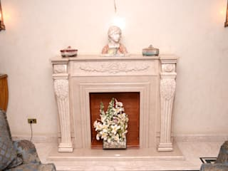 Tania Mariani Architecture & Interiors Living roomFireplaces & accessories Marble White