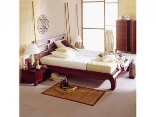 Bett Feng Shui Pinie massiv Holz Moebel braun Schlafzimmer:   von Moebelkultura.DE