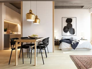 Pied à Terre Modern living room by Recent Spaces Modern