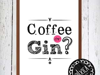 Poster *Coffee or Gin? por Oi! Xica Escandinavo