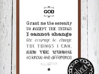 Poster *Serenity Prayer:   por Oi! Xica