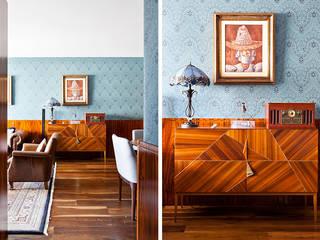 Projekty,  Salon zaprojektowane przez INÁ Arquitetura