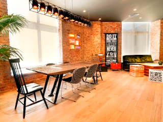 Doğaltaş Atölyesi Office spaces & stores Bricks Wood effect