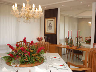 Apartamento Clássico: Salas de jantar  por EMMILIA CARDOSO DESIGNERS ASSOCIADOS,Clássico