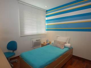 Apartamento Laranja: Quartos  por EMMILIA CARDOSO DESIGNERS ASSOCIADOS,Moderno