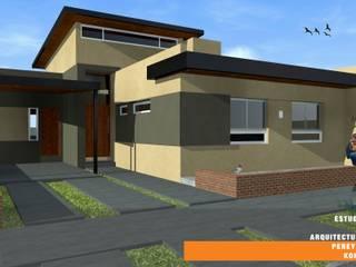 CASA TK: Casas de estilo ecléctico por Estudio de Arquitectura Pereyra Kohli