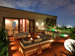 Balcones y terrazas de estilo moderno de NLDigital Moderno