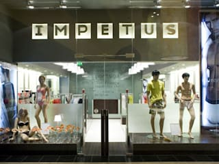 Impetus Lojas e Espaços comerciais minimalistas por BLK-Porto Arquitectura Minimalista