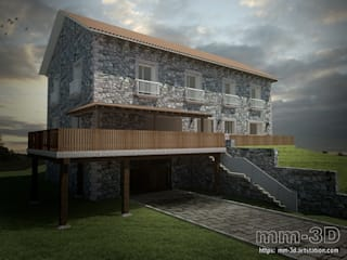 Rustic style hotels by mm-3d Rustic