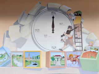 Dipinti murali per edifici pubblici di Sulla Soglia decorazioni artistiche. Eclettico