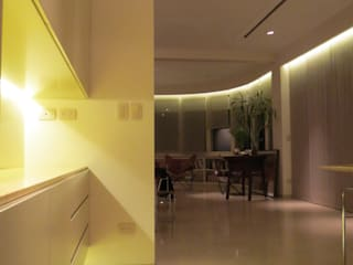 Dining room by Estudio de iluminación Giuliana Nieva