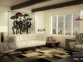 Eclectic style living room by mm-3d Eclectic