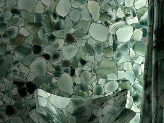 Green Jade Bathroom, Hong Kong ShellShock Designs Salle de bain asiatique Pierre Vert