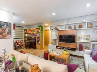 LIVING: Salas de estar  por GRUPO AE - ARQUITETURA+ENGENHARIA