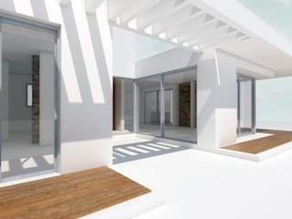 Patio interno / galerias de 1.61 Arquitectos Minimalista