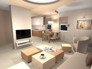 Ruang Keluarga Modern Oleh Ekskluzywne Wnętrze Modern
