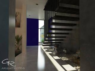 House Jc-1 Pasillos, vestíbulos y escaleras minimalistas de GT-R Arquitectos Minimalista