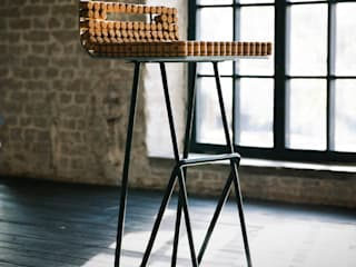 Барный стул от дизайн-студия промышленного дизайнера Анны Струпинской Лофт Металл