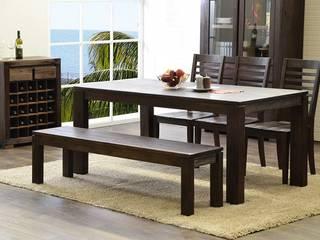 Essgruppe 180 x 90 Tecky mit 3 Stühlen und 1 Sitzbank Esszimmergarnitur Esstisch:   von Moebelkultura.DE