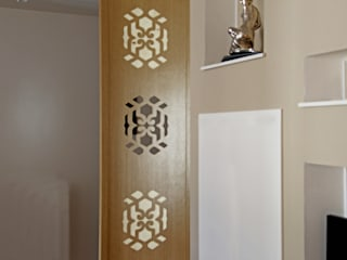 Asian style study/office by Domenico Architetto Moschetto Asian
