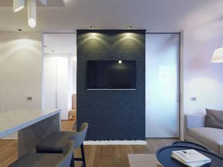 Kiev apartment: Гостиная в . Автор – EUGENE MESHCHERUK   |  architecture & interiors, Модерн