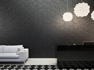 Wanddekorationen aus Beton:  Wohnzimmer von Die Fliese art + design Fliesenhandels GmbH