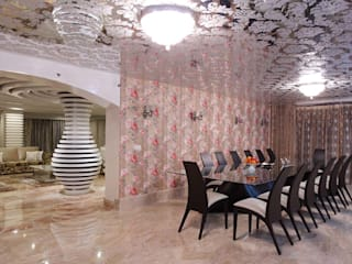 Residential Interior for Mrs. Banalari Eclectic style dining room by Purple Architecture Eclectic
